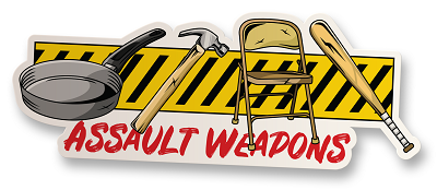 Assault Weapons Vinyl Sticker