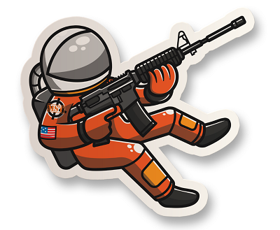 Space Force Astronaut Vinyl Sticker