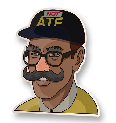 Disguised ATF Agent Vinyl Sticker