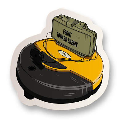 Claymore Roomba Vinyl Sticker
