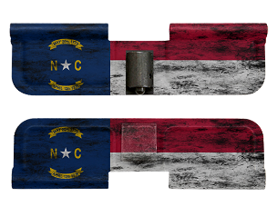 AR-15 Ejection Port Dust Cover - Distressed North Carolina