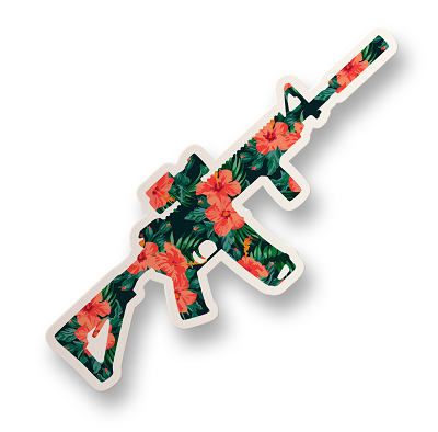 Hawaiian AR Vinyl Sticker