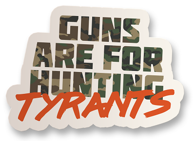 Hunting Tyrants Vinyl Sticker