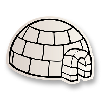 Igloo Vinyl Sticker