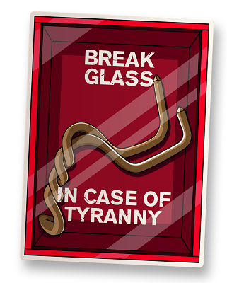 In Case of Tyranny Vinyl Sticker