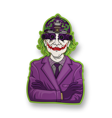 Joker Vision Vinyl Sticker