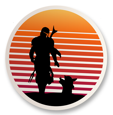 Retro Bounty Hunter Vinyl Sticker