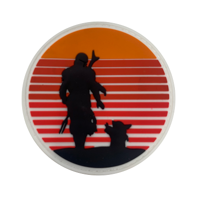 Retro Bounty Hunter PVC Patch