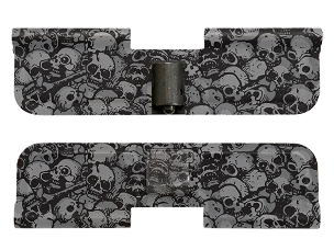 AR-15 Ejection Port Dust Cover -Skulls