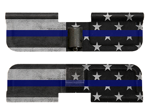 AR-15 Ejection Port Dust Cover -Thin Blue Line