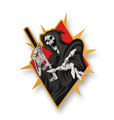 Grim Reaper Vector Vinyl Sticker