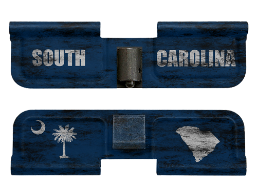 AR-15 Ejection Port Dust Cover - Distressed South Carolina