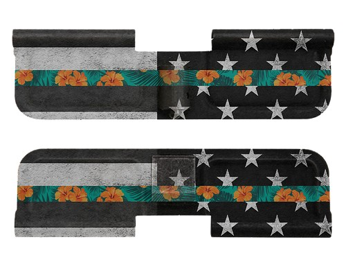 AR-15 Ejection Port Dust Cover - Thin Luau Line